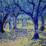 Le Val, 2019, in een veld vol olijfbomen